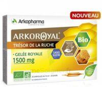 Arkoroyal Gelée royale bio sans sucre 1500mg Solution buvable 20 Ampoules/10ml à Paris