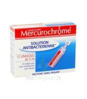 Mercurochrome Solution Antibactérienne Unidoses 12 x 5ml à Paris