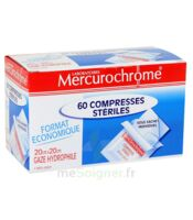 Mercurochrome 60 Compresses Stériles 20cm x 20cm à Paris
