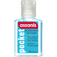 Assanis Pocket Gel antibactérien mains 20ml à Paris