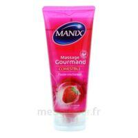 Manix Gel comestible de massage fraise 200ml à Paris