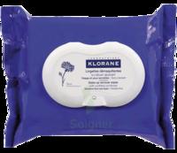 Klorane Soins des Yeux au Bleuet Lingette démaquillante biodégradable Pack/25 à Paris