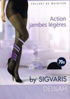 SIGVARIS DELILAH FR chaussettes 70D marine T2 à Paris