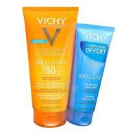 Vichy Idéal Soleil SPF50 Gel de lait ultra-fondant peau mouillée ou sèche 200ml+Après soleil à Paris
