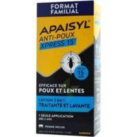Apaisyl Anti-poux Xpress 15' Lotion antipoux et lente 100ml+peigne à Paris